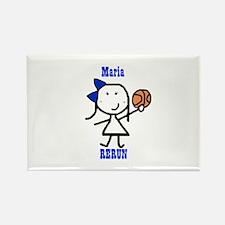 Basketball: Maria Rectangle Magnet