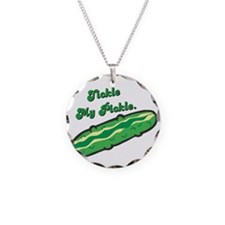 Tickle My Pickle Necklace Circle Charm