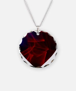 Red Fireworks Heart Necklace