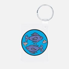 Pisces Fish Circle Keychains