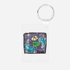 Pisces Design Keychains