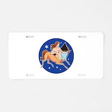 Sagittarius Circle Design Aluminum License Plate
