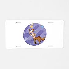 Silly Sagittarius Symbol Aluminum License Plate