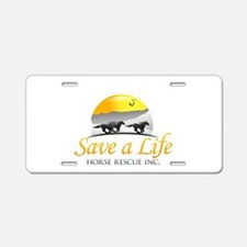 Save A Life Horse Rescue Aluminum License Plate