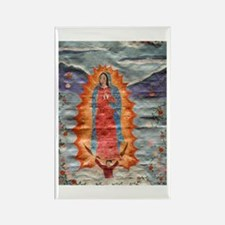 Our Lady of Guadalupe (Papyrus) Rectangle Magnet