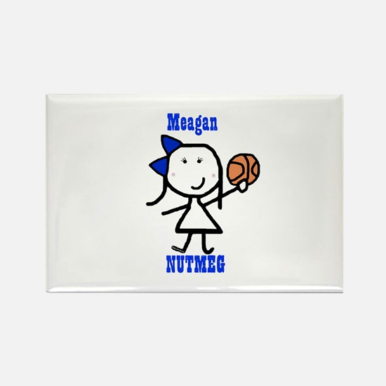 Basketball: Meagan Rectangle Magnet