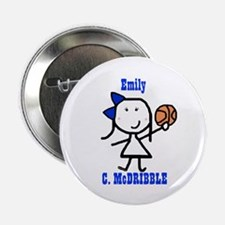 """Basketball: Emily 2.25"""" Button (10 pack)"""
