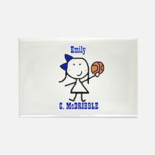 Basketball: Emily Rectangle Magnet