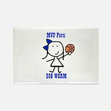 Basketball: Fern Rectangle Magnet