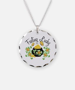Feeling Lucky Pot of Gold Necklace