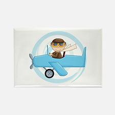 Boy Pilot Rectangle Magnet