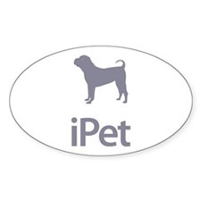 Chinese Shar Pei Oval Decal