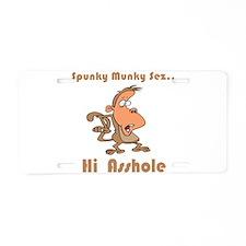 Hi Asshole Aluminum License Plate