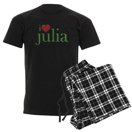 I Heart Julia Men's Dark Pajamas