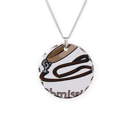 Dog Collar Submissive Necklace Circle Charm