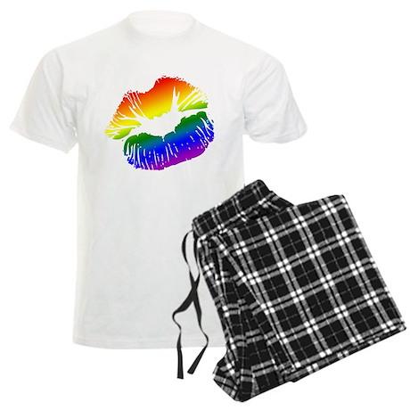Big Rainbow Lips Men's Light Pajamas