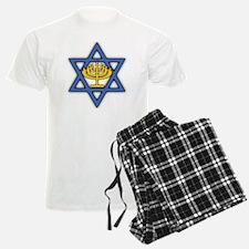 Star of David with Menorah Pajamas