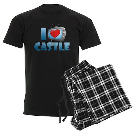 I Heart Castle Men's Dark Pajamas