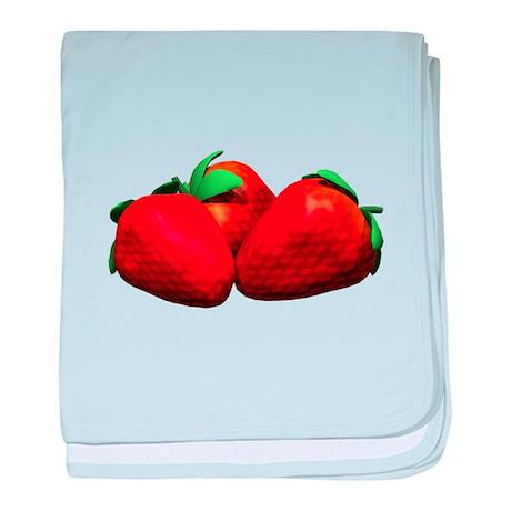 Strawberries baby blanket