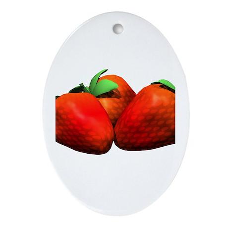 Strawberries Ornament (Oval)
