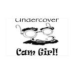 Undercover Cam Girl 38.5 x 24.5 Wall Peel