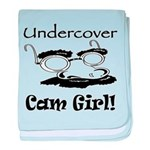 Undercover Cam Girl baby blanket