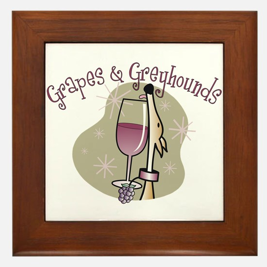 Grapes and Greyhounds Framed Tile