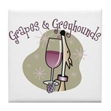 Grapes and greyhound Tile Coasters