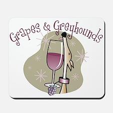 Grapes and Greyhounds Mousepad