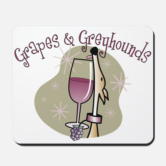 Grapes and Greyhounds Mousepad