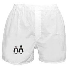 Cute Penguin wedding Boxer Shorts