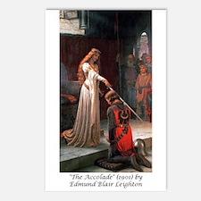 "Edmund Blair Leighton's ""The Accolade"" Postcards ("