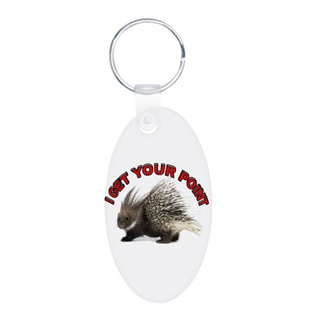 GET THE POINT Aluminum Oval Keychain