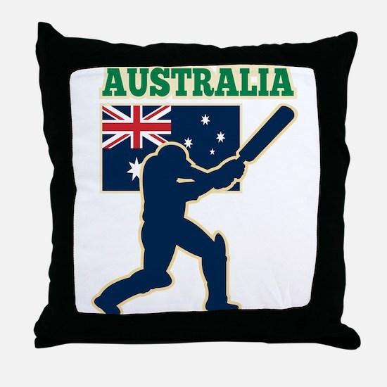 Cricket Australia Throw Pillow