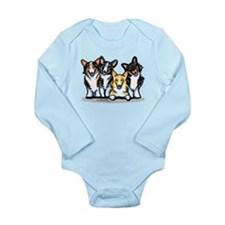 Four Corgis Long Sleeve Infant Bodysuit