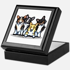 Four Corgis Keepsake Box