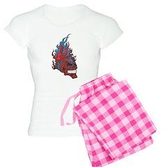 Blood Fire Skull Pajamas