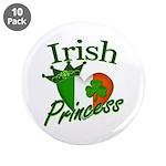 "Irish Princess 3.5"" Button (10 pack)"