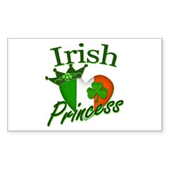 Irish Princess Sticker (Rectangle)