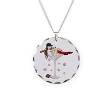 Boston Girl Martini Necklace