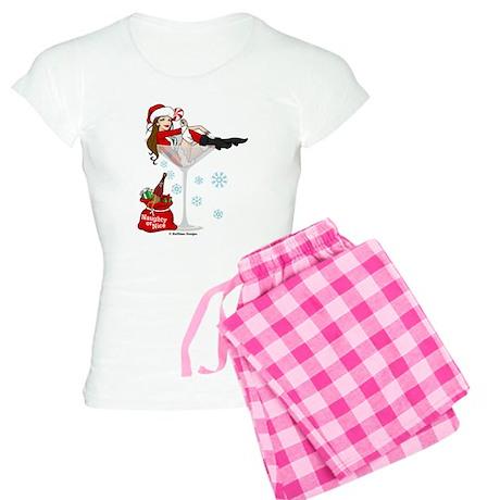 Santa Girl Martini Women's Light Pajamas