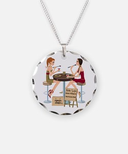 Seminole Sushi Girls Necklace Circle Charm