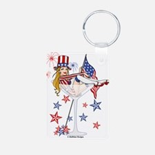 4th of July Martini Girl Keychains