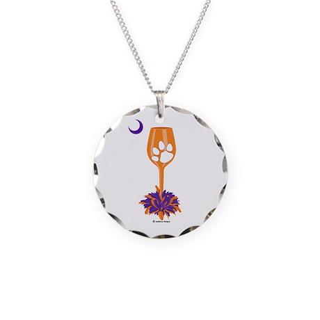 Tipsy Tiger (Orange) Necklace Circle Charm