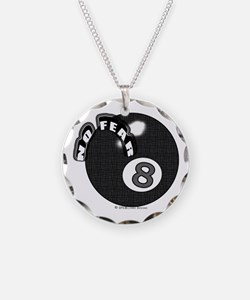 No Fear 8 Ball Necklace Circle Charm
