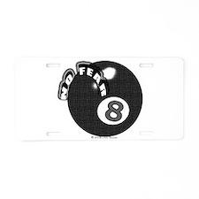 No Fear 8 Ball Aluminum License Plate