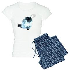 Funny Blue Hair Cat Pajamas