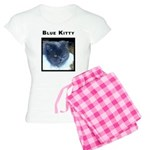 Blue Kitty Cat Women's Light Pajamas