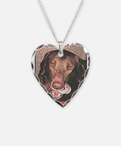 Funny Chocolate Lab Necklace