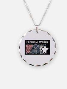 Freedom Works Flag Necklace